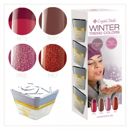 Winter trend colors Color Gel Kit 4pcs/5ml
