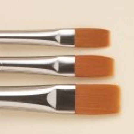 SERIES 1001. FLAT 'BRIGHTS' GOLDEN SYNTHETIC brush #2