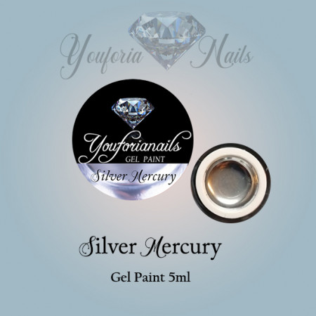Silver Mercury Gel Paint 5ml