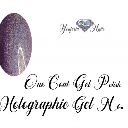 Holographic gel polish Light Purple No. 02