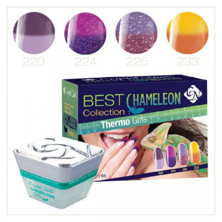 CN Best Chameleon Color Gel Collection Thermo Gels 220, 224, 225, 233