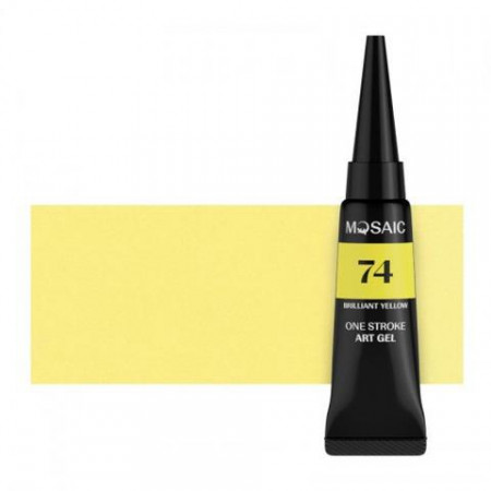 MOSAIC ONE STROKE GEL PAINT 74 BRILLIANT YELLOW
