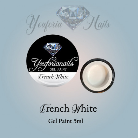 French White Gel Paint 5ml