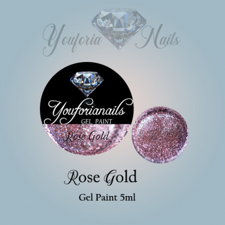 Rose Gold Gel Paint 5ml