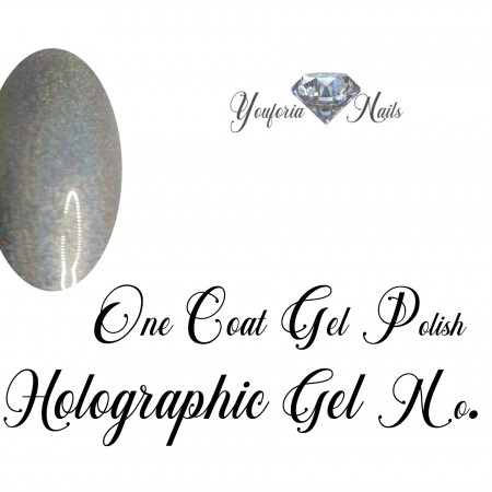 Holographic gel polish Silver No. 12