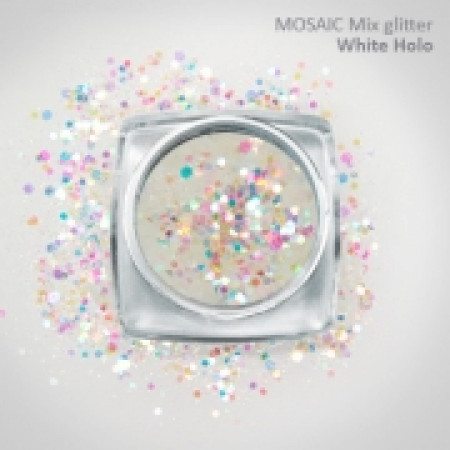 """Mix"" Luxury Glitter Holo White"